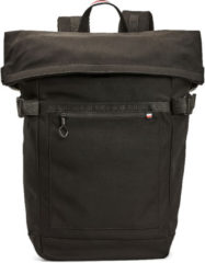 Zwarte Tommy Hilfiger Urban Roll Backpack rugzak black