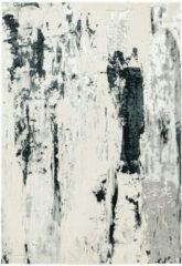Antraciet-grijze Eazy Living Easy Living - Aurora-aU10-Glacier Vloerkleed - 80x150 cm - Rechthoekig - Laagpolig Tapijt - Industrieel - Antraciet, Grijs