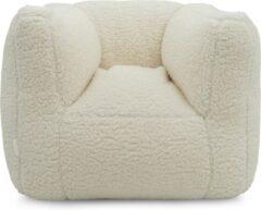Jollein kinderfauteuil wit teddy (45 centimeter x 40 centimeter x 36 centimeter)