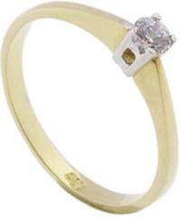 Gele Christian bicolor gouden ring met briljanten