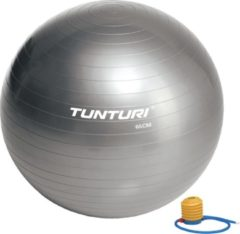 Tunturi Fitnessbal - Gymball - Swiss ball - 65 cm - Incl. pomp - Zilver