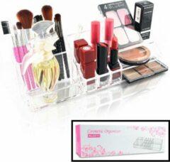 Make up Organizer met 14 Vakken – Make-up Organizer Transparant - Sieraden Makeup Cosmetica Opbergsysteem - Display Houder voor Lippenstift / Nagellak / Brushes / Visagie - Make up kwasten / Sieraden etc. - Decopatent®