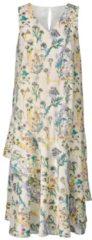 Kleid mit Blumen-Print und Volants Sara Lindholm Multicolor