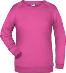 James & Nicholson James And Nicholson Dames/dames Basic Sweatshirt (Roze)