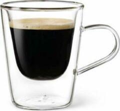 Transparante Luigi Bormioli Dubbelwandig glas Espresso - 10 cl - Set van 2