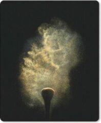 MousePadParadise Muismat Goud - Goud poeder op een zwarte achtergrond muismat rubber - 19x23 cm - Muismat met foto
