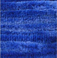 Merkloos / Sans marque 30x Blauw chenille draad 14 mm x 50 cm - Buigbaar draad - Pluche chenillegaren/chenilledraden - Hobbymateriaal om mee te knutselen