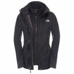 Zwarte The North Face Evolve II Triclimate Dames Outdoorjas - TNF Black/TNF Black - Maat M