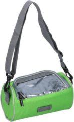 Dunlop Fietsstuurtas lime groen met smartphone houder 20 cm - Fiets stuurtassen/fietsvakantie