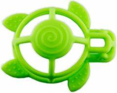 Groene Bo Jungle B-Turtle Siliconen bijtspeeltje   Schildpad