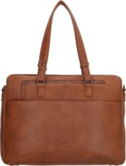 "Enrico Benetti Lily 66450 dames laptoptas/ business tas 15"" - Cognac"