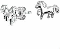 TFT Oorknoppen Paard Zilver Gerhodineerd Glanzend 7.5 mm x 9.5 mm
