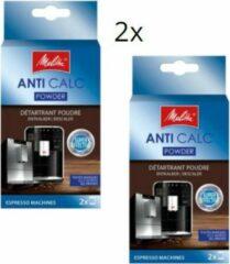 Melitta anti calc powder ontkalker - 2x verpakking a 2x 40gr poeder - ontkalkingsmiddel ontkalker voor espresso machines koffiezetapparaten