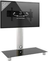 TV-Standfuß LED Ständer Fernseh Standfuss Alu Glas Universal 'Standol' Universell VESA VCM Schwarzglas