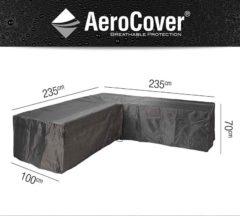 Grijze AeroCover loungesethoes hoekset - L 235 x L 235 x B100 x H70 - Antraciet