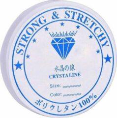 Yfybeads 0.4mm elastisch nylondraad transparant | Ca.14.5 meter op rol | Sieraden maken