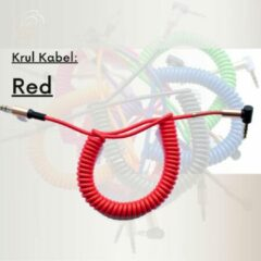 GoodvibeZ CurlZ | Rood | Stereo Audio Jack KabelS 3.5 mm - AUX Kabel Gold Plated - Male to Male - Zwart - 0,8 meter | Mobiel / Stereo / MP3 Speler / TV