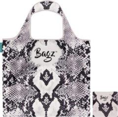 Witte Bagz Python 1094619 opvouwbaretas gemaakt van gerecycled plastic