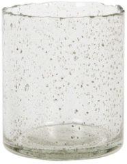 Clayre & Eef Glazen Theelichthouder 6GL2994 Ø 8*10 cm - Transparant Glas Waxinelichthouder Windlichthouder