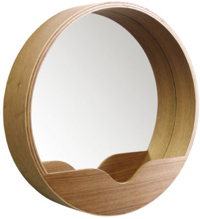 Afbeelding van Naturelkleurige Zuiver Spiegel Round wall 60cm
