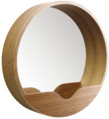 Naturelkleurige Zuiver Spiegel Round wall 60cm