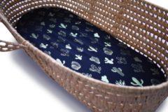 Donkerblauwe Petit Bandit Hoeslaken Metallic Cactus