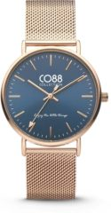 CO88 Collection Watches 8CW 10014 Horloge - Mesh Band - Ø 36 mm - Rosékleurig