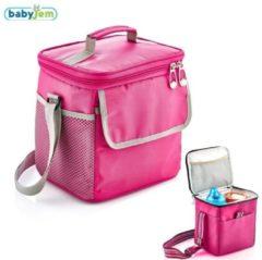 Baby Jem BabyJem Koeltas voor Babyvoeding Borstvoeding en Moedermelk - tot 4 uur koud/warm - 21x20x17 cm - Roze