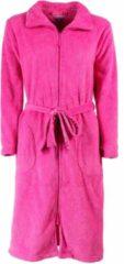 Tenderness Design dames badjas met rits gemaakt van Coral Fleece, kleur Ibis Roze, TR10