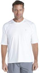 Witte Coolibar UV beschermend shirt - Wit - Heren - Maat XL