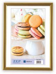 """Goudkleurige Zep - Kunststof Fotolijst """"""""New Easy"""""""" Goud Voor Foto Formaat 13x18 - Kg2"""