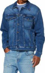 Tommy Hilfiger Jeans HerenJack Oversized Denim Blauw Trucker M - Tommy Jeans - Jacket