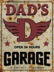 Rode Signs-USA - Dads Garage - Wandbord - 33 x 44 cm