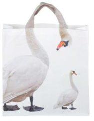 Grijze Esschert Design boodschappentas Zwaan 21 liter polyester