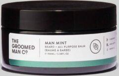 The Groomed Man Co. Man Mint Beard Balm - Premium Baard Balsem - Beschermt/Verzorgt - tegen Jeukende en Droge huid - Geur Mint/Sandelhout - 100ML