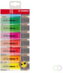 Markeerstift Stabilo Boss geassorteerde kleuren - Pak van 8