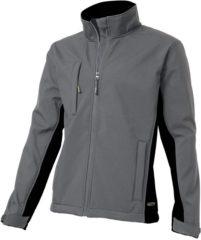 Grijze Tricorp Soft Shell Jack Bi-Color - Workwear - 402002 - Grijs / Zwart - maat S