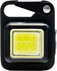 Zwarte True Utility - Button Lite - LED Carabiner