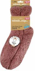 Merkloos / Sans marque Roze slofsokken/huissokken/bedsokken voor dames - Huissokken voor vrouwen - Slofsokken