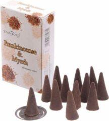 45x Stamford wierook kegeltjes Frankincense & mirre geur - Lichaam in balans - Meditatie/mediteren geurkegeltjes