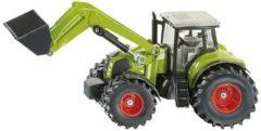 Groene Siku Claas Axion tractor met voorlader groen (1979)