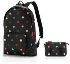 Zwarte Reisenthel mini maxi rucksack - Opvouwbare rugzak - Polyester - Dots