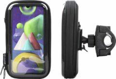 Interphone - Samsung Galaxy M21 Motorhouder Unicase Telefoonhouder Fiets en Motor Stuur Zwart