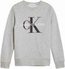 Licht-grijze Calvin Klein Jeans! Jongens Sweater - Maat 152 - Lichtgrijs - Katoen
