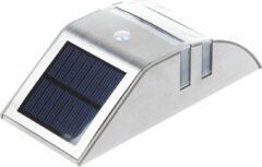 Grundig Wandlamp Led - Buitenlamp Zonne-Energie - Solar Lamp - Zilver