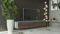 Maxima House VIGO I Zwevend TV Meubel - TV Meubel Wit / Beach - TV Kast Meubel - Modern Design - 30x180x40 cm