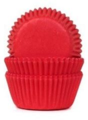 Rode House of Marie Cupcake Cups MINI Dieprood 35x23mm. 50st.