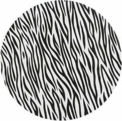 Cosy @ Home - Bord Zebra Zwart-Wit 33X33Xh2Cm Kunststof - Tafeldecoratie