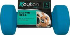 Blauwe Kaytan Sports 2x Dumbell 3 kg - Dumbells Set 3 kg - Halterset - Halters