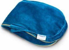 Telano® Velvet Zwangerschapskussen Hoes XXL Blauw met GOUDEN Rits 145 x 80cm|High Quality Zachte Velvet|Voedingskussen Hoes
